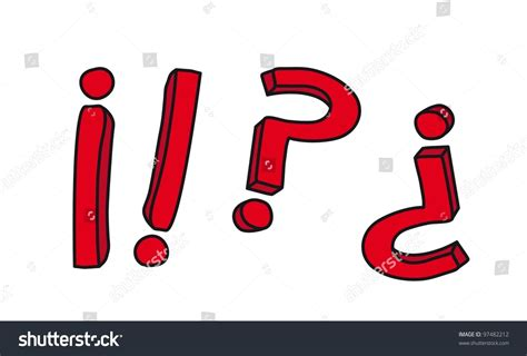 illustrator draw question mark question mark and exclamation drawing vector