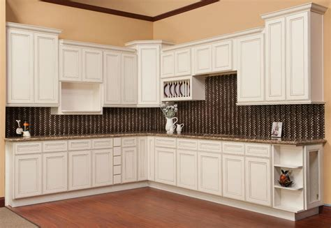 Antique White Glazed Kitchen Cabinets Kitchen Cabinets Antique White Chocolate Glaze Quicua