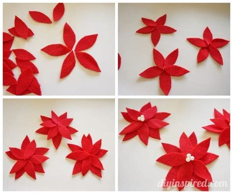 Curb Appeal Diy - diy no sew felt poinsettias diy inspired