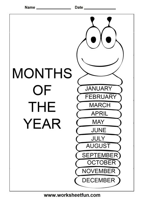 esl printable worksheets months of the year months of the year 1 worksheet free printable