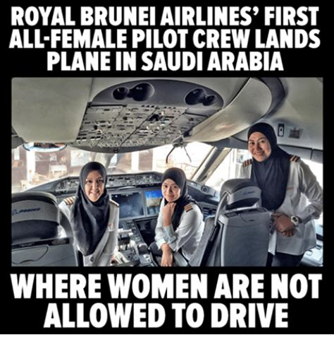Report Not Allowed To Drive by Royal Brunei Airlines Allfemale Pilot Crew Lands