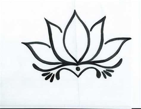 easy tattoo ideas to draw simple lotus flower drawing tattoo tattoo ideas pinterest
