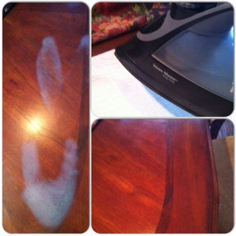 removing steam spots from wood how to remove white burn marks from wood furniture ok i ironed on my dining table the