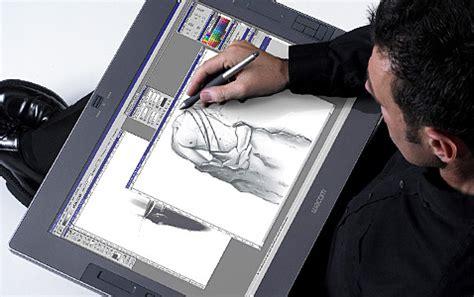 imagenes del lapiz optico de la computadora wacom cintiq 12wx dibujando con el l 225 piz sobre la pantalla
