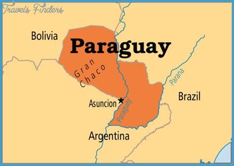 paraguay on the world map paraguay world map location travelsfinders