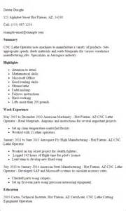 cnc machinist resume template professional cnc lathe operator templates to showcase your