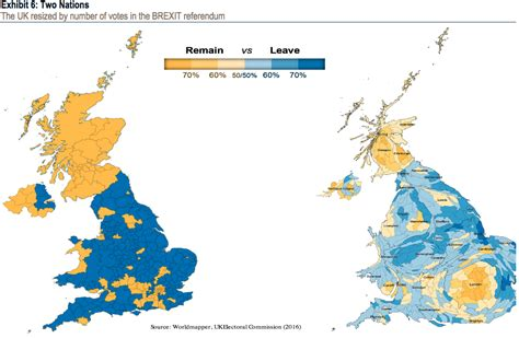 map uk leave remain distorted brexit map business insider