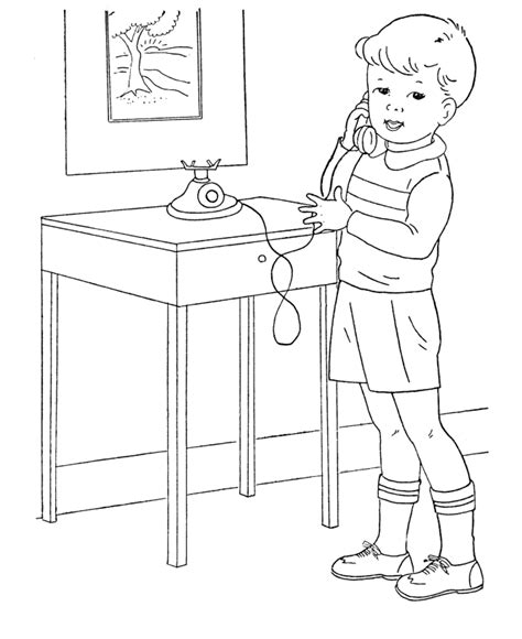 kid talking coloring page bluebonkers boy coloring pages boy on the phone free printable coloring sheets for boys