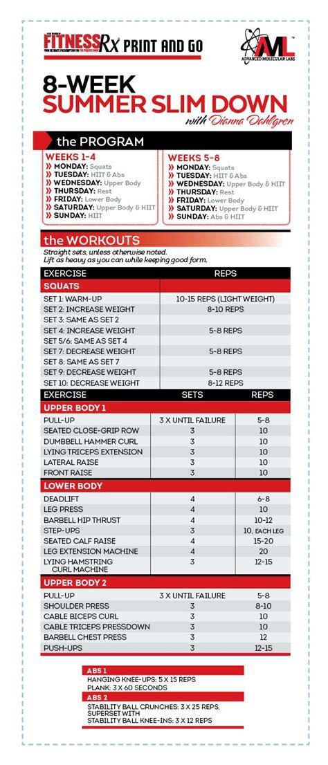 weight loss 8 week program best 8 week workout plan workout everydayentropy
