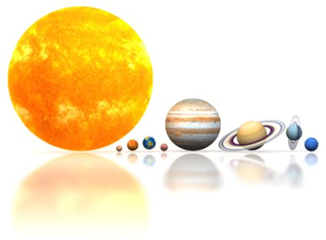 solar system above a white background stock illustration