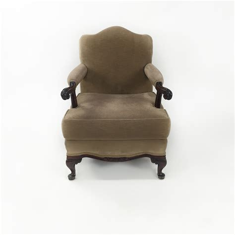 custom armchair the roxy armchair upholstered in navy coronet leather featuring soapp culture