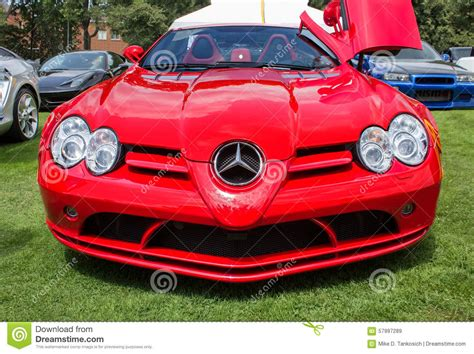 cars mercedes red red mercedes sports car editorial stock image image