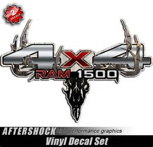 ram 1500 camo skull truck decals aftershock decals