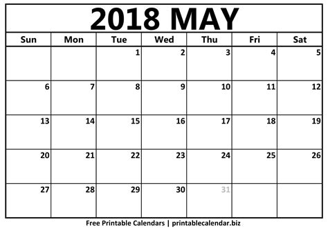 printable calendar may 2018 may 2018 calendar printablecalendar biz