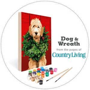Country living kit dog amp wreath easy 123 art