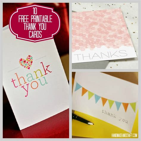 diy printable thank you cards 10 free printable thank you cards