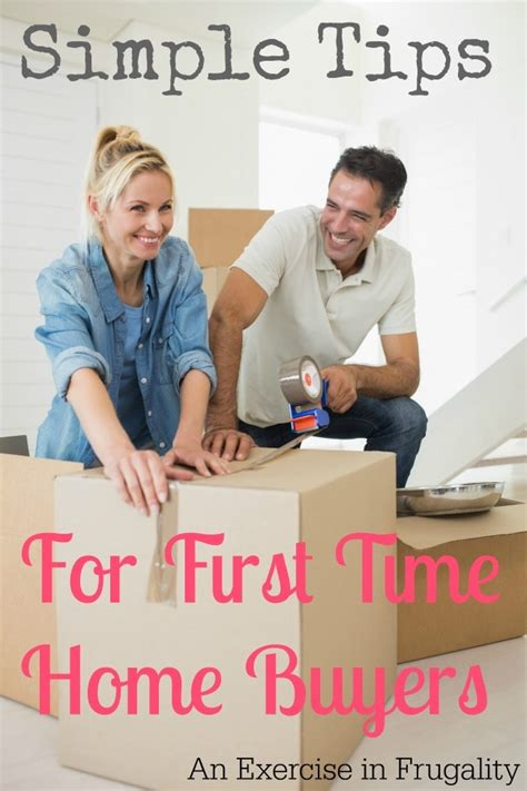 tips for time home buyers an exercise in frugality