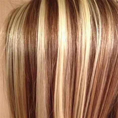 3 color blonde and brown hair foil hair styles medium slice effect alpha 2 medium slicing effect
