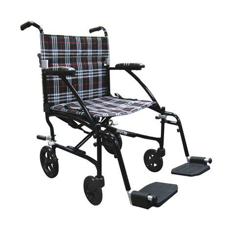 drive fly lite aluminum transport chair