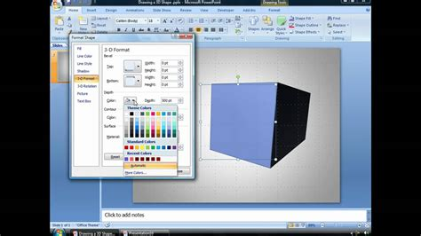 how to create doodle presentation draw a 3d powerpoint shape