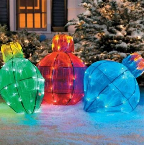 outdoor lighted giant christmas light bulb holiday yard