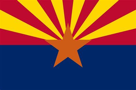 arizona state colors arizona state flag arizona was admitted to the union in