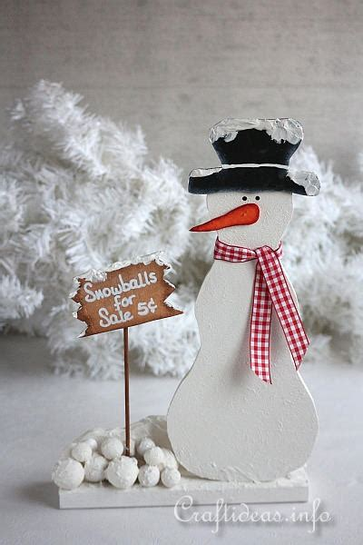 christmas woodworking ideas wood crafts with free patterns scrollsaw project snowman with snowballs