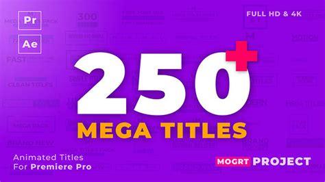 پروژه پریمیر ۲۵۰ انیمیشن عنوان Mogrt Titles مغزابزار Premiere Pro Animation Templates