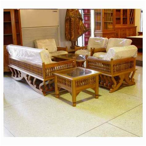 wooden living room furniture at the galleria