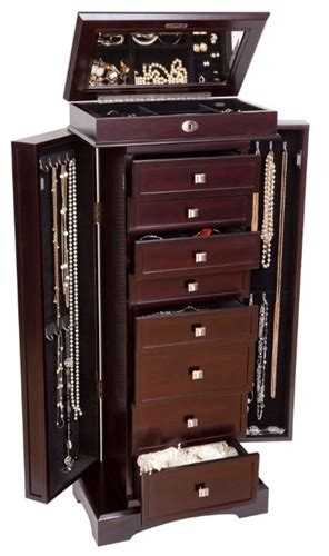 wooden jewelry armoire wooden jewelry armoire in rich dark walnut finish
