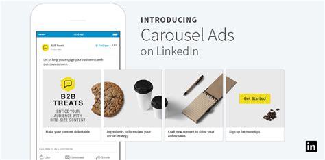 Introducing Carousel Ads On Linkedin Linkedin Marketing Blog Linkedin Ad Template