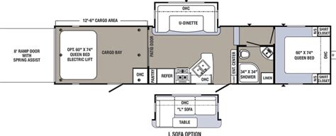 puma travel trailers floor plans puma toy hauler floor plans floor matttroy