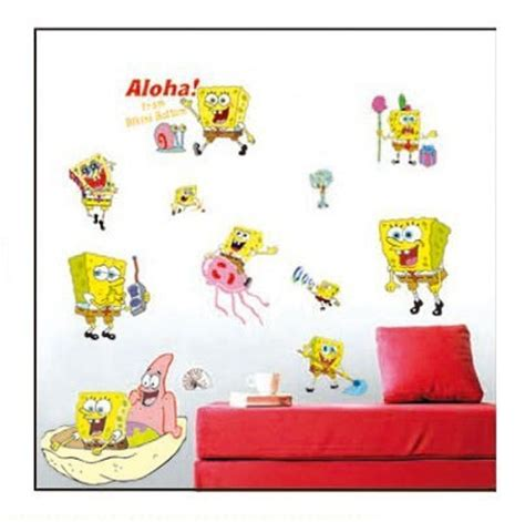 Wallpaper Sticker Spongebob 1 spongebob wall decals roselawnlutheran