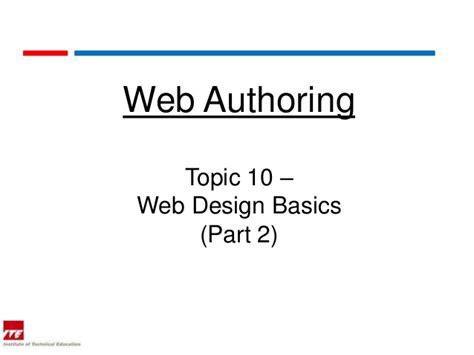 html design basics web topic 10 2 web design basics