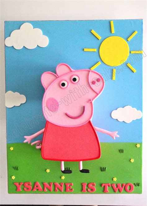 peppa pig templates cake ideas and designs