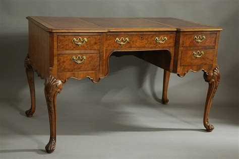 vintage queen anne desk walnut writing desk in the queen ann style for sale at 1stdibs