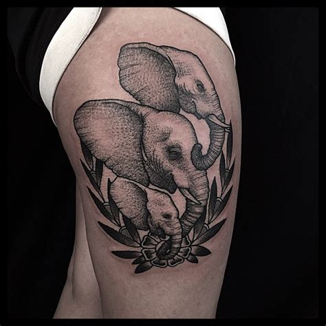 3 elephant tattoo three elephants best ideas gallery