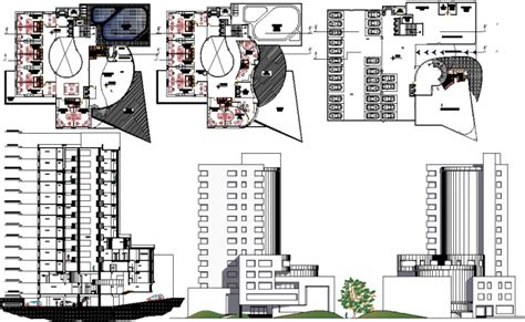 hotel layout plan autocad 5 star hotel section elevation