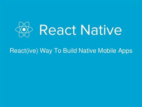 learning react building mobile apps with javascript books react react ive way to build mobile apps