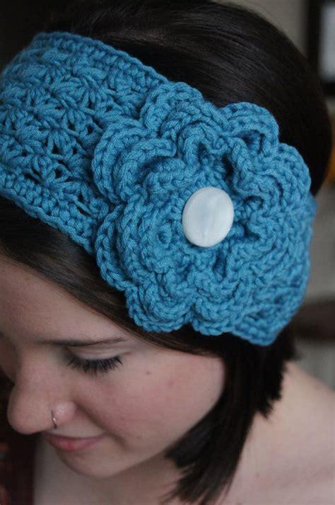 crochet pattern flower headband 756 best images about crochet headbands ear warmers etc