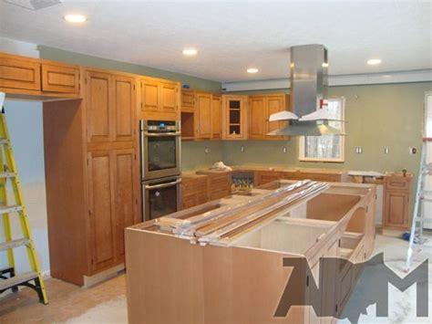 installing a kitchen island installing kitchen island cabinets