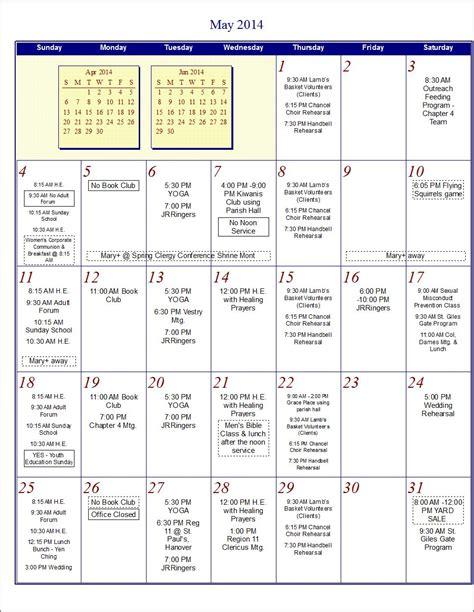 Cms Calendar 2014 Worship Schedule