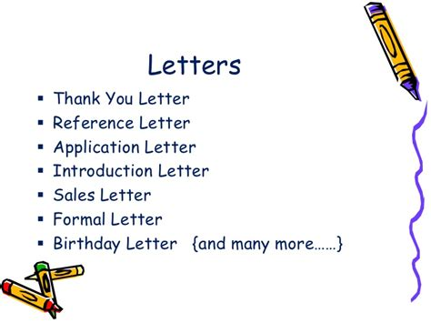 Letter Kinds Types Of Letters