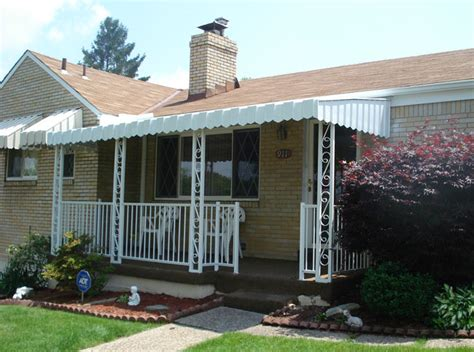 metal porch awnings aluminum porch awning awning ideas front porch front