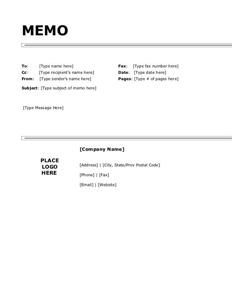 Memo Template Cc Copy Of Simple Memo