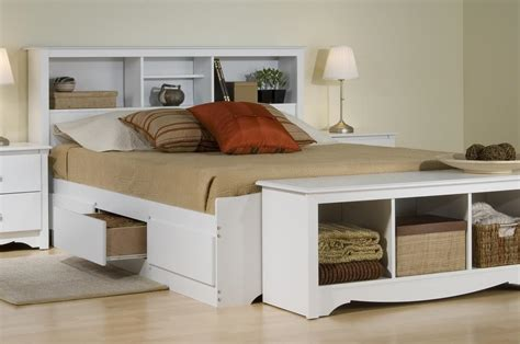 Storage Bed Bookcase Headboard by Prepac Platform Storage Bed W Bookcase Headboard By Oj