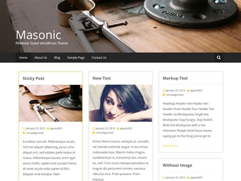 blog wordpress themes archives list of download