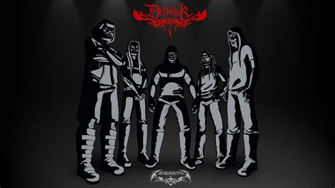 wallpaper cartoon band dethklok heavy metal music cartoons hard rock band groups