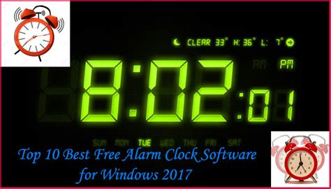 top 5 best free alarm clock software 2017 with melodious alarm