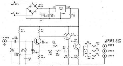 ganho transistor bc547 circuito divisor e lificador de v 237 deo